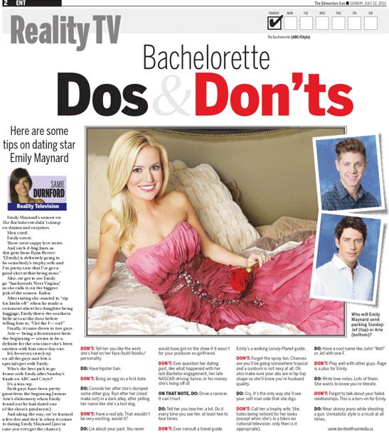 The Bachelorette article