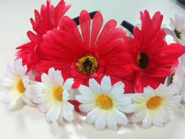 Festival season flower headbands